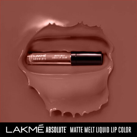 Lakme Absolute Matte Melt Liquid Lip Colour, Natural Nude