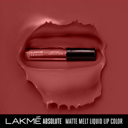 Lakme Absolute Matte Melt Liquid Lip Colour, Peach Rose