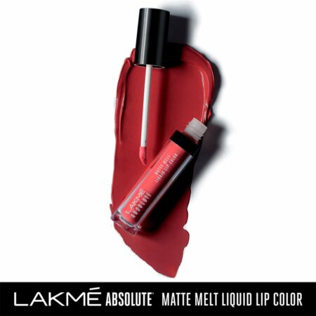 Lakme Absolute Matte Melt Liquid Lip Color, Red Smoke (6ml)