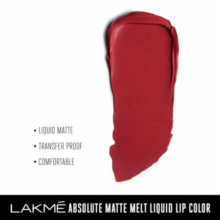 Lakme Absolute Matte Melt Liquid Lip Color, Red Smoke