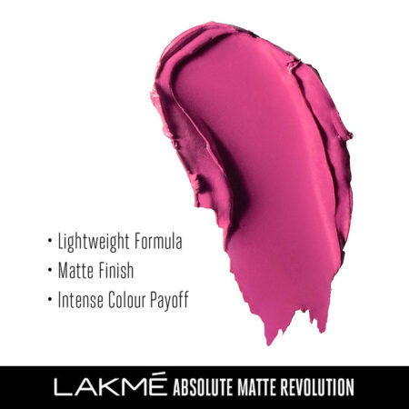Lakme Absolute Matte Revolution Lip Color, Insane Pink (3.5g)