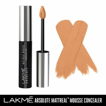 Lakme Absolute Mattereal Mousse Concealer, Honey (9g)