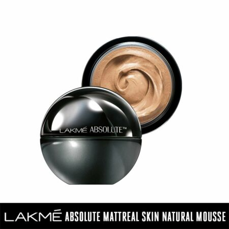 Lakmé Absolute Mattreal Skin Natural Mousse, Golden Medium (25g)