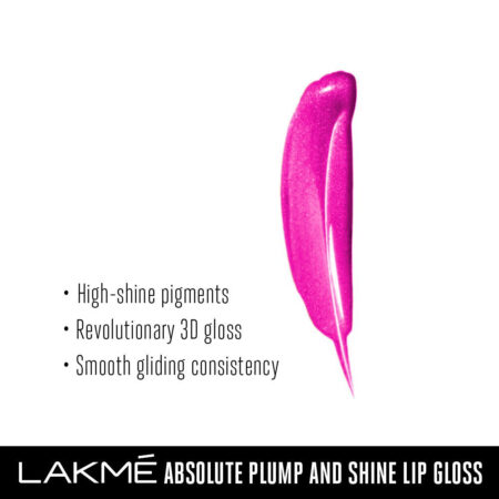 Lakme Absolute Plump & Shine Lip Gloss, Pink Shine (3ml)
