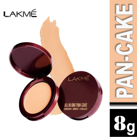 Lakme All In One Pan-Cake, Natural Shell (8g)