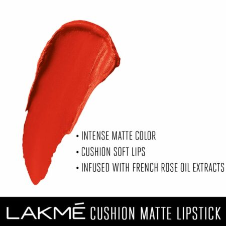 Lakme Cushion Matte Lipstick, Orange Rush