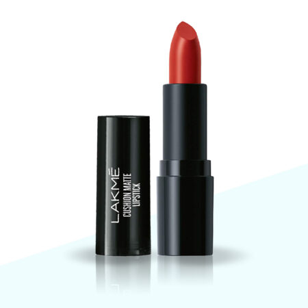 Lakme Cushion Matte Lipstick, Red Rose (4.5g)