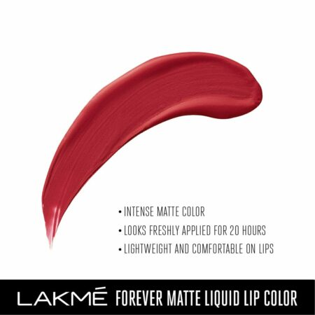 Lakme Forever Matte Liquid Lip Color, Red Velvet
