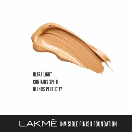 Lakme Invisible Finish SPF 8 Foundation, Shade 5 (25ml)