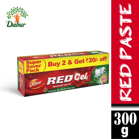 Dabur Red Gel – Ayurvedic Gel for Freshness and Effective Oral Care (150g) Pack of 2