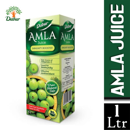 Dabur Amla Juice 100% Ayurvedic Pure, Natural and Safe Amla Juice (1Ltr) Pack of 2