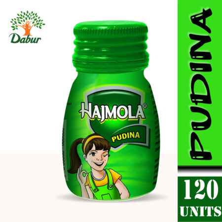 Dabur Hajmola Pudina Tablet, 120 Tablets (Pack of 2)