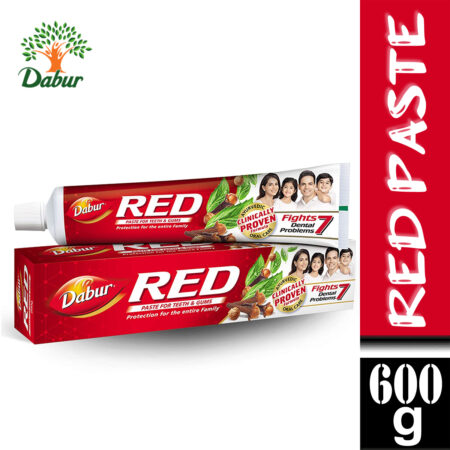 Dabur Red Paste – One of the Best Ayurvedic Toothpaste for Bad Breath & Pyria (600g)