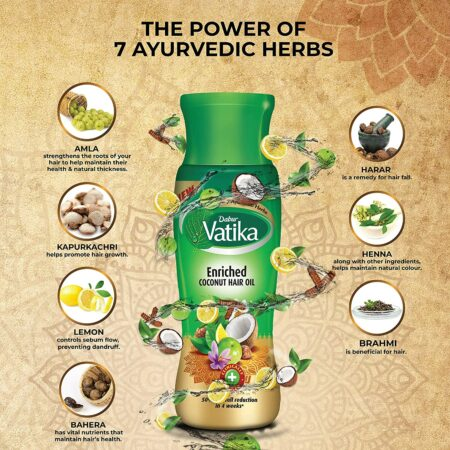 Dabur Vatika Enriched Coconut Hair Oil (300 ml)
