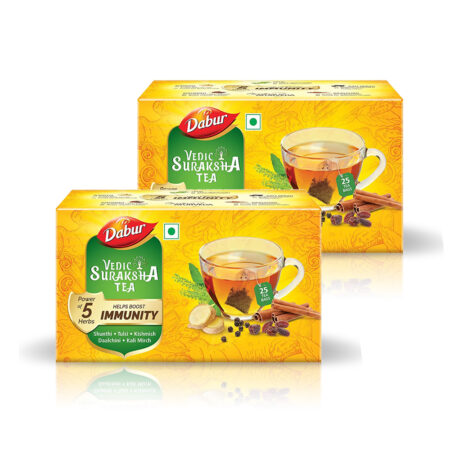 Dabur Vedic Suraksha Black Tea 25 bag Pack of 2