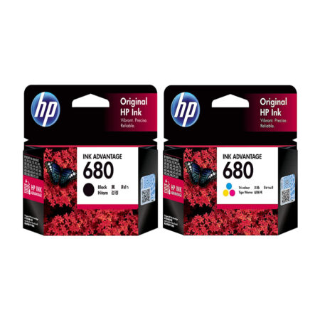 HP 680 ink cartridges combo pack (1 Black+ 1tri-Color Cartridge)