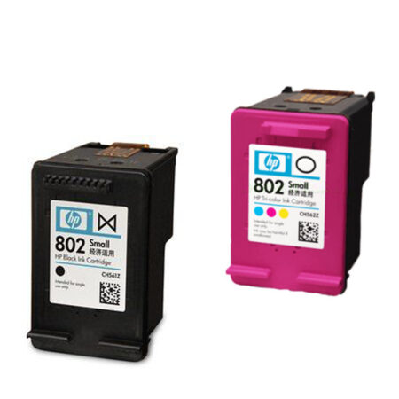Original HP Ink Cartridge for HP 802 Combo Pack Small Black/Tri-Color | CR312AA