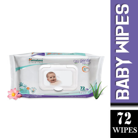 Himalaya Gentle Baby Wipes – 72 Pieces (Pack of 2)