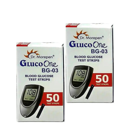 Dr. Morepen Gluco One (100 Test Strips ) for Model BG-03