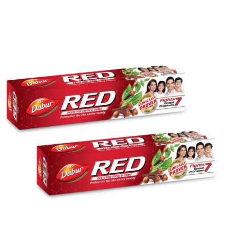 Dabur Red Paste  One of the Best Ayurvedic Toothpaste for Bad Breath & Pyria (100g) Pack of 2