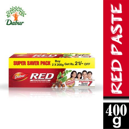 Dabur Red Paste  One of the Best Ayurvedic Toothpaste for Bad Breath & Pyria (400g)