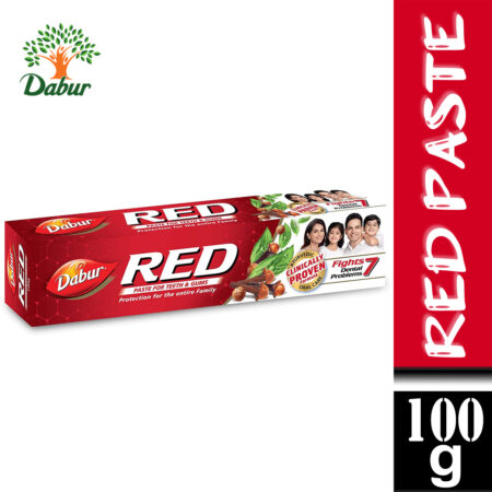 Dabur Red Paste  One of the Best Ayurvedic Toothpaste for Bad Breath & Pyria (100g)