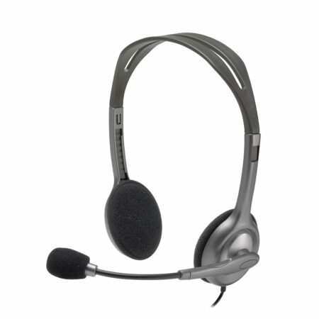 Logitech H110 Wired headset, Stereo Headphones with noise-cancelling, 3.5-mm, for PC/Mac/Laptop