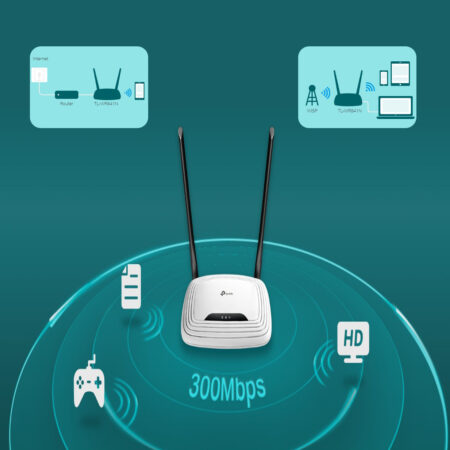 TP-Link TL-WR841N 300Mbps Wireless N Cable, 4 Fast LAN Ports, Easy Setup, WPS Button, Supports Parent Control, Guest Wi-Fi Router