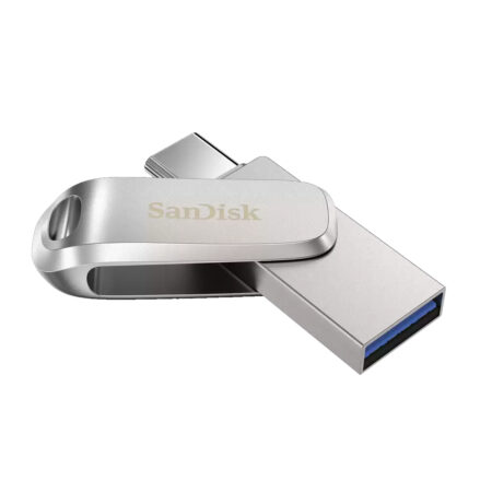 SanDisk Ultra Dual Drive Luxe Type C Flash Drive 64GB, 5Y – SDDDC4-064G-I35