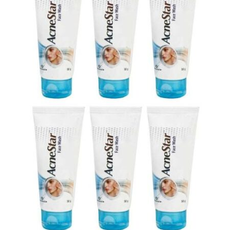 Mankind Acnestar Face Wash  50ML (Pack of 6)