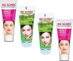 NO SCARS No_Scars Aloevera+Neem Extract FaceWash 4x60ml (Pack of 4)