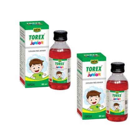 New Torex Junior Cough Syrup, 60 ml (Pack of 2)