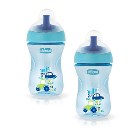 Chicco Advanced Sipper Cup 200ml (12 Months) (SkyBlue) (Pack of 2)