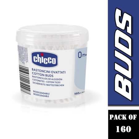 Chicco Cotton Buds – 160 Pieces