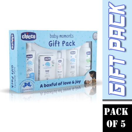 Chicco First Cuddle Gift Set-Blue (Pack of 5)