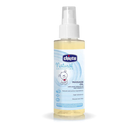 Chicco Natural Sensation Massage Oil, Mother's Womb Like Care, 0m+ (100 ml)