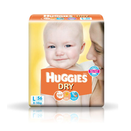 Huggies New Dry Diapers Large 56 Units