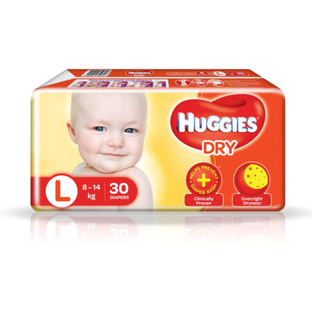 Huggies New Dry Pants, Large (L) Size Baby Diaper Pants, 30 count