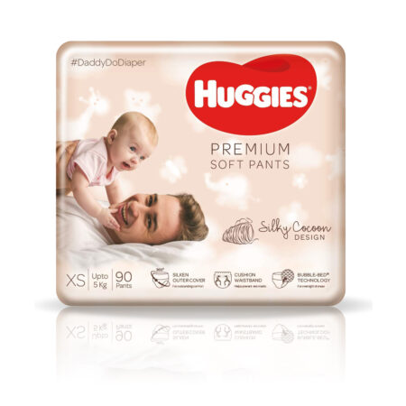 Huggies Premium Soft Pants, Extra Small (XS) Size Diapers, 90 Count