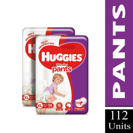 Huggies Wonder Pants Diapers Monthly Pack, Extra Large 112 Count