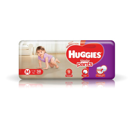 Huggies Wonder Pants Medium (M) Size Baby Diaper Pants, 38 count, with Bubble Bed Technology for com