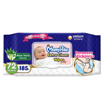 MamyPoko Extra clean wipes with Aloe vera - Pack of 72 wipes