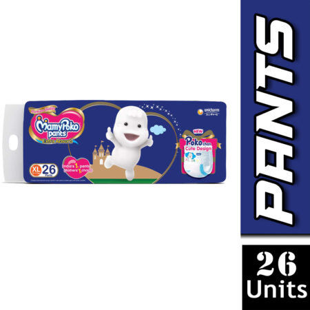 MamyPoko Pants Extra Absorb Baby Diaper - Extra Large Size (12 - 17 kg) 26 Count
