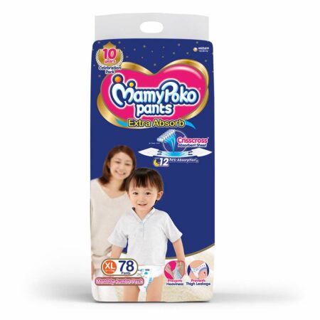 MamyPoko Pants Extra Absorb Diapers, Extra Large (Pack of 78)