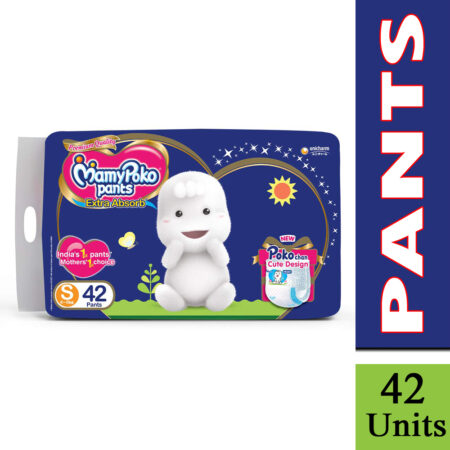 MamyPoko Pants Extra Absorb Diaper, Small (Pack of 42)