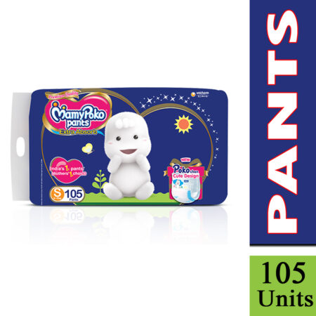 MamyPoko Pants Extra Absorb Diaper, Small (Pack of 105)