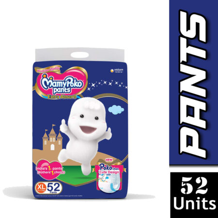 MamyPoko Pants Extra Absorb Diapers, Extra Large (Pack of 52)