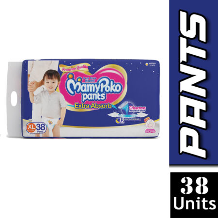 MamyPoko Pants Extra Absorb Diapers, Extra Large (Pack of 38)