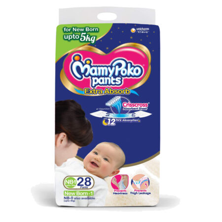 MamyPoko Pants New Born baby Size NB-1, Pack of 28