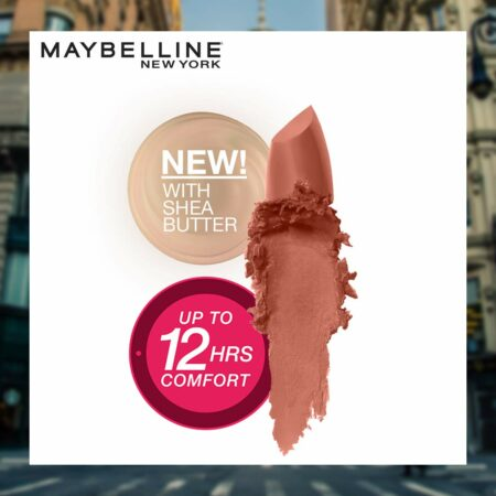 Maybelline New York Color Sensational Creamy Matte Lipstick- 506 Toasted Brown, 3.9 g